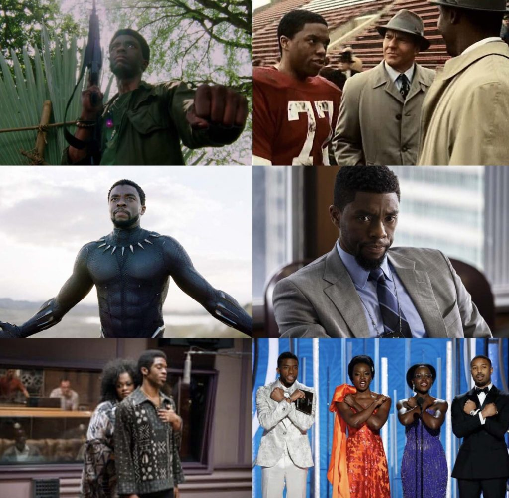 IMAGES FROM CHADWICK BOSEMAN FILMS
